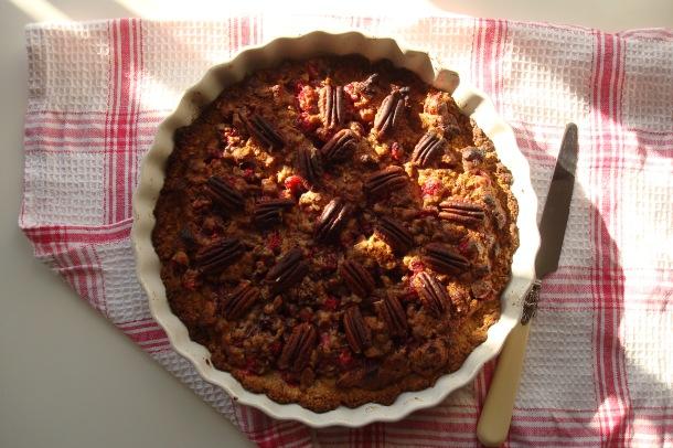 Pecan and Cranberry Pie